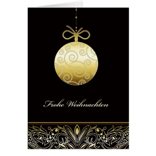 Frohe Weihnachten, Merry christmas in German, Greeting Card