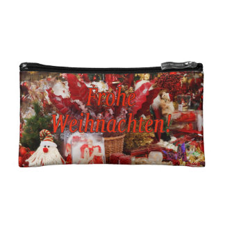 Frohe Weihnachten! Merry Christmas in German rf Cosmetic Bag