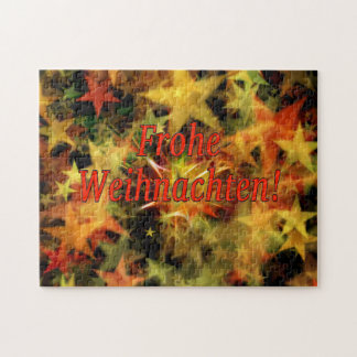 Frohe Weihnachten! Merry Christmas in German rf Jigsaw Puzzle