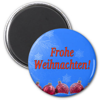 Frohe Weihnachten! Merry Christmas in German rf Magnet