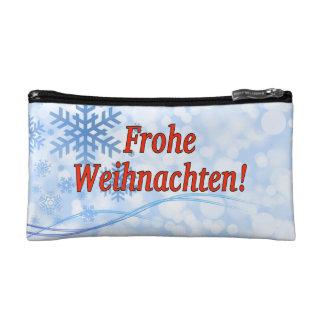 Frohe Weihnachten! Merry Christmas in German rf Makeup Bag