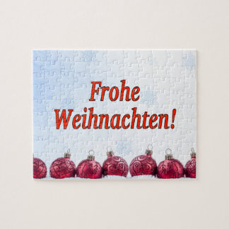 Frohe Weihnachten! Merry Christmas in German rf Jigsaw Puzzles