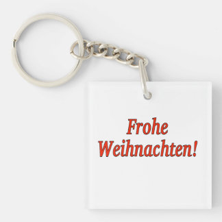 Frohe Weihnachten! Merry Christmas in German rf Single-Sided Square Acrylic Keychain