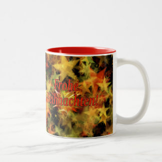Frohe Weihnachten! Merry Christmas in German rf Two-Tone Coffee Mug