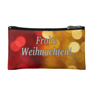 Frohe Weihnachten! Merry Christmas in German wf Cosmetic Bag