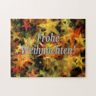 Frohe Weihnachten! Merry Christmas in German wf Jigsaw Puzzle