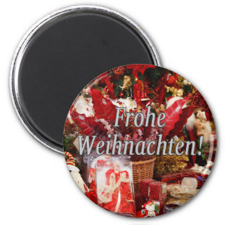 Frohe Weihnachten! Merry Christmas in German wf Magnet