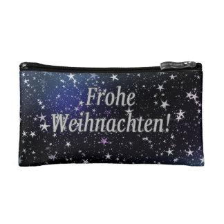 Frohe Weihnachten! Merry Christmas in German wf Makeup Bag