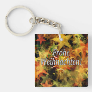 Frohe Weihnachten! Merry Christmas in German wf Single-Sided Square Acrylic Keychain