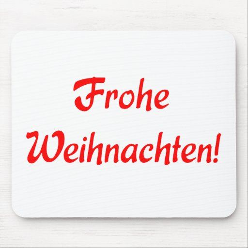 Frohe Weihnachten Mouse Pads