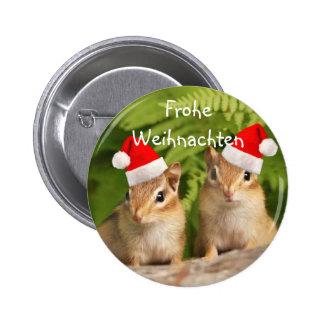 Frohe Weihnachten Santa Baby Chipmunks Button