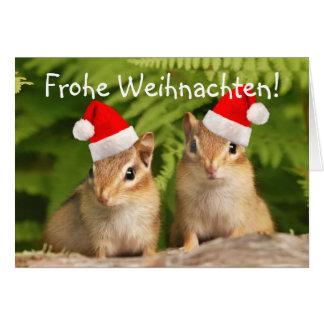 Frohe Weihnachten Santa Baby Chipmunks Card