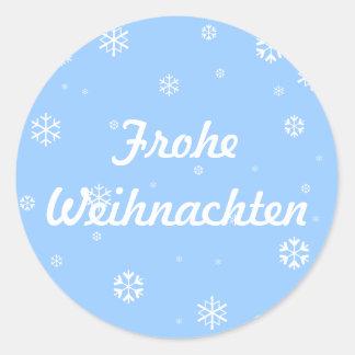 Frohe Weihnachten Snowflakes Stickers