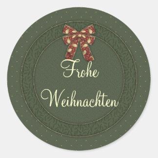 Frohe Weihnachten Stickers