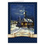 Frohe Weihnachten. Tarjeta de Navidad alemana