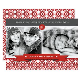 """Frohe Weihnachten. Tarjetas alemanas de la foto Invitación 5"""" X 7"""""""