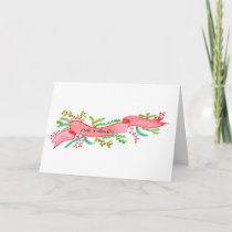 Frohe Weihnachten, watercolor Christmas banner Holiday Card