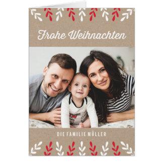 Frohe Weihnachten | Weihnachtskarte Card