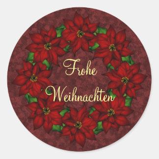 Frohe Weihnachten - Weihnachtsstern Motiv Stickers