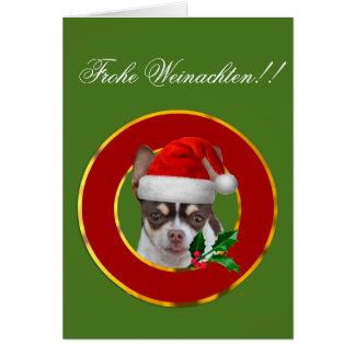 ¡Frohe Weinachten!! tarjeta de felicitación del