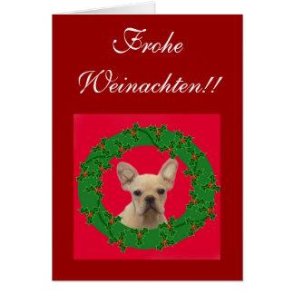 ¡Frohe Weinachten!! Tarjeta de felicitación del do
