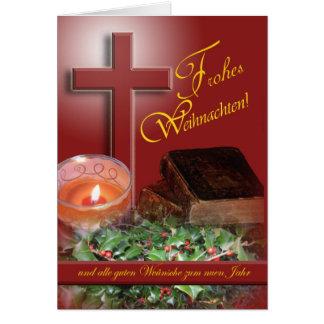 Frohes Weihnachten German Merry Christmas Card