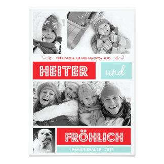 Fröhlich und Frohen Weihnachten Card