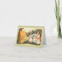 Fröhliche Ostern Vintage Easter Bunnies Holiday Card