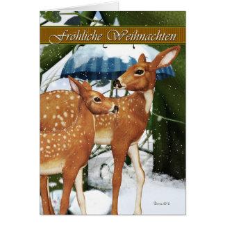 Fröhliche Weichnacht - German Deer Christmas Card