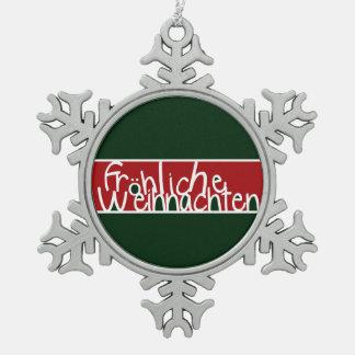 Frohliche Weihnachten Adorno De Peltre En Forma De Copo De Nieve