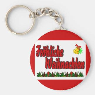 Fröhliche Weihnachten Basic Round Button Keychain