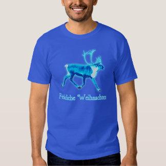 Fröhliche Weihnachten - Blue Caribou (Reindeer) T-Shirt