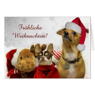 Fröhliche Weihnachten Chihuahuas greeting card