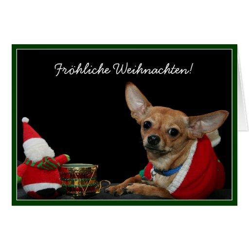 Fröhliche Weihnachten Christmas chihuahua card