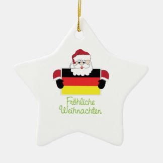 Frohliche Weihnachten Adorno De Cerámica En Forma De Estrella