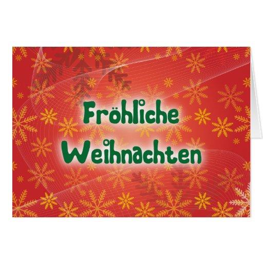 Fröhliche Weihnachten Grußkarte