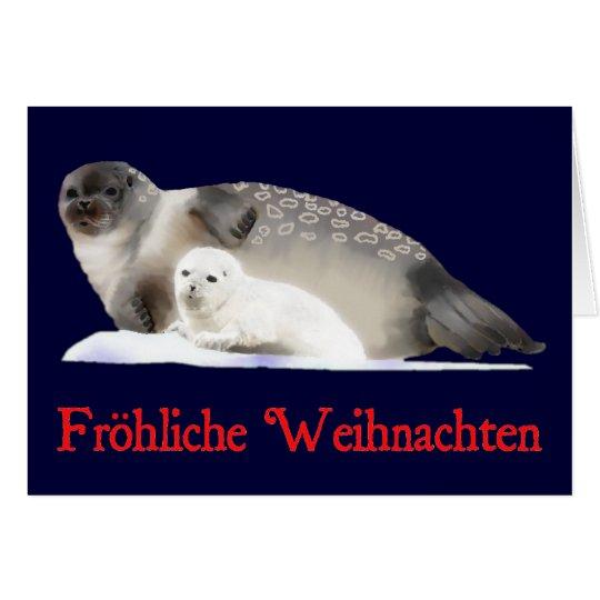 Frohliche Weihnachten - Ringed Seal Card