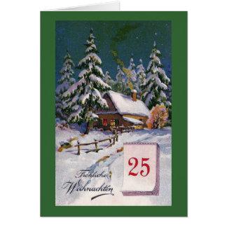 """""""Frohliche Weihnachten"""" Vintage German Card"""