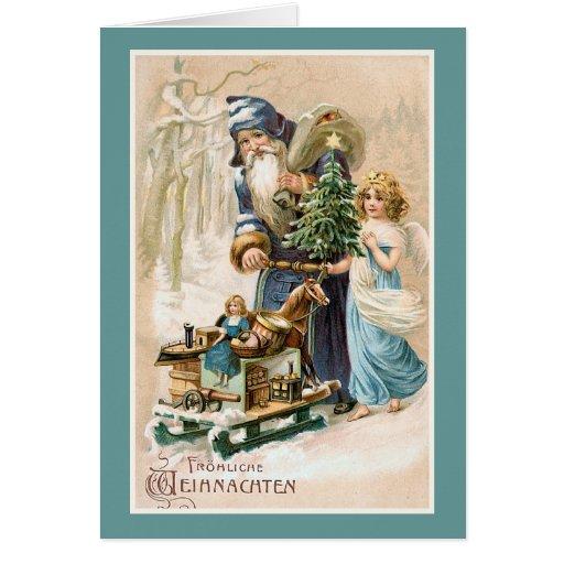 frohliche weihnachten vintage german greeting card zazzle. Black Bedroom Furniture Sets. Home Design Ideas