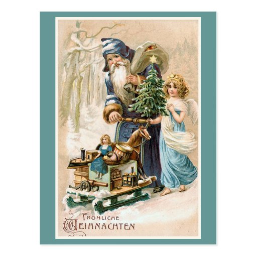 frohliche weihnachten vintage german postcard zazzle. Black Bedroom Furniture Sets. Home Design Ideas