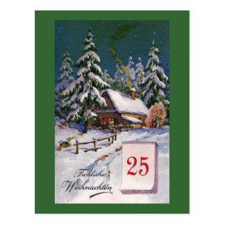 """""""Frohliche Weihnachten"""" Vintage German Postcard"""