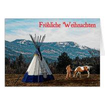 Frohliche Weihnachten - Winter Camp Card