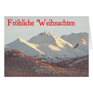 Frohliche Weihnachten - Winter Eagle Card