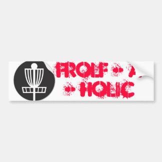 Frolf - A - Holic Car Bumper Sticker