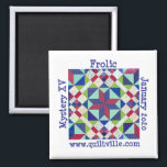"""Frolic Magnet<br><div class=""""desc"""">Magnet for Frolic Quiltville Mystery.</div>"""