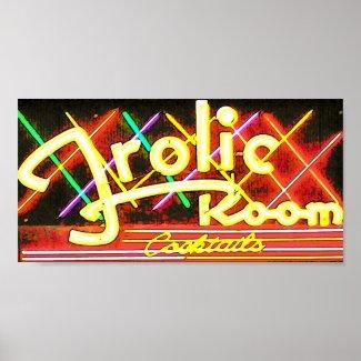 frolic room neon arrt Poster print