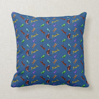Frolicking Kittens and Cats Throw Pillow