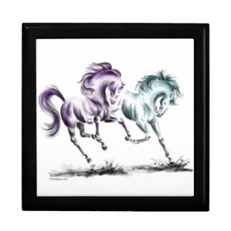 Frolicking Racing Wild Horses Gift Boxes