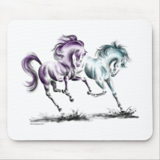 Frolicking Racing Wild Horses Mouse Pad
