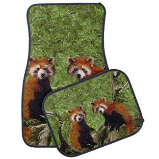 Frolicking Red Pandas Car Mat